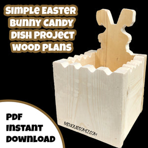 Easter Bunny Candy Dish Scroll Saw Woodworking Project