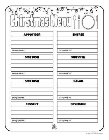 Christmas Planner Pack 2019 PDF Downloadable Printables