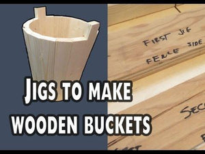 Wooden Bucket Woodworking Plans (PDF)