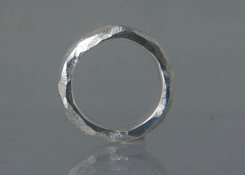 Rund, fingerring, sterling sølv