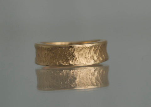 Nilen, fingerring, 7 mm, 18K rødguld