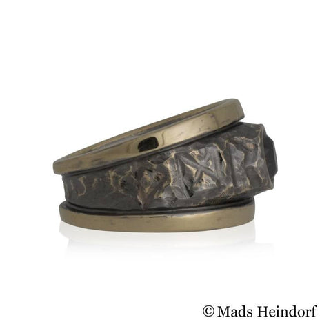 Valhalla, fingerring, 18K rødguld med 1 sort diamant