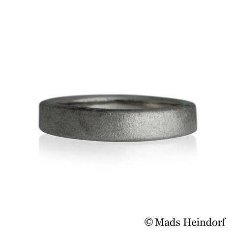 Livets ring, satin struktur, sterling sølv