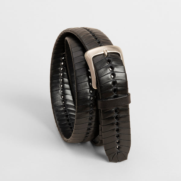Hand Braided belt - Black