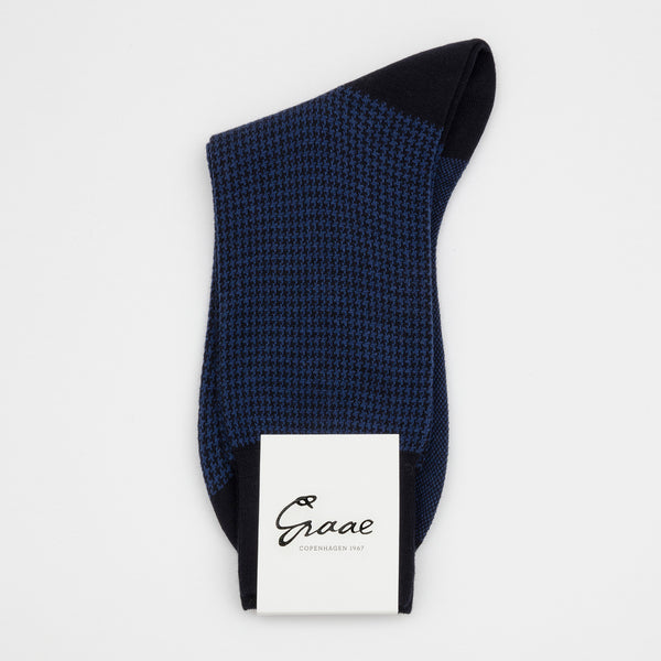 Small Houndstooth / Leg wear - Blue