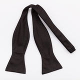 SELF TIE 100% SILK JACQUARD - BLACK