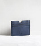 6 card holder in bull calf - blue