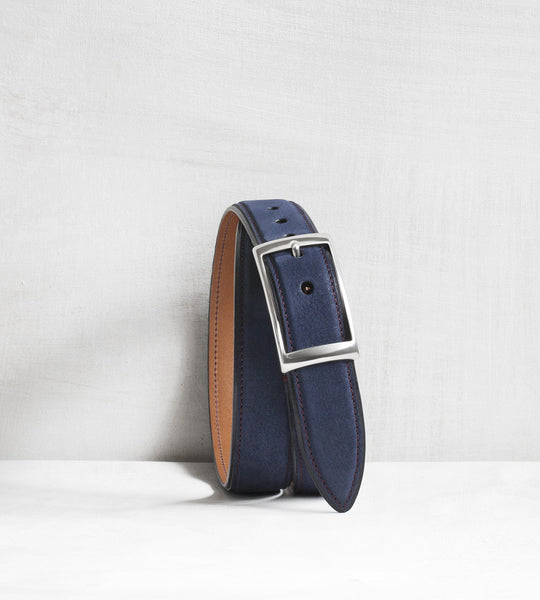 Nubuck belt - navy