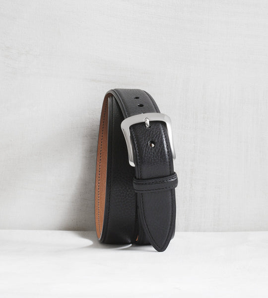 Casual calfskin belt - black