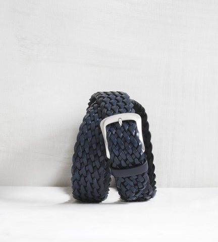 Braided casual belt - marine