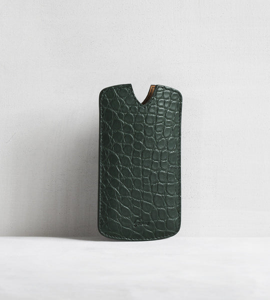 iPhone cover in alligator - agave