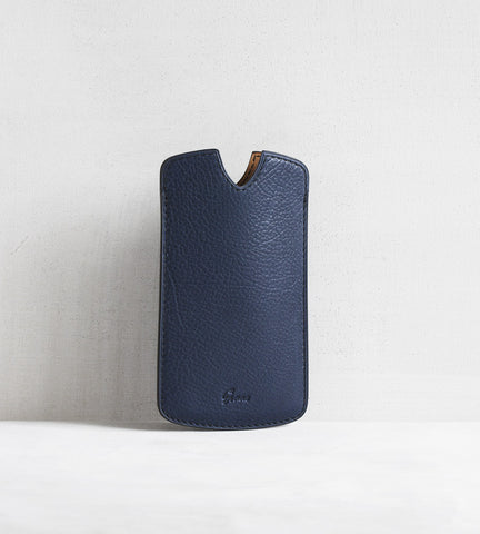 iPhone cover in bull calf - blue