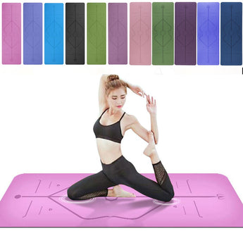 1830*610*6mm Yoga Mat with Position Line Anti-slip Carpet Mat For Beginner Fitness Gymnastics Mats