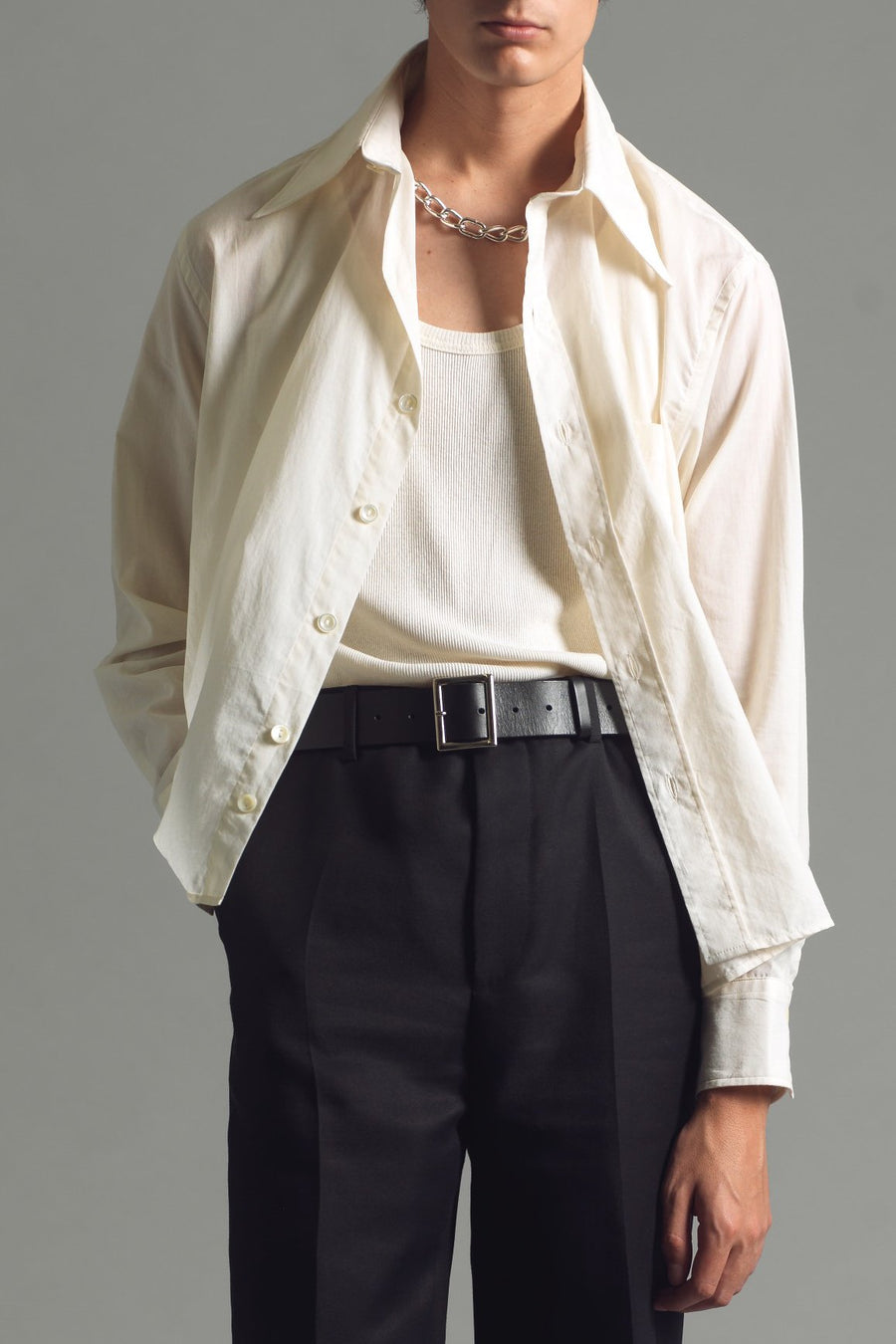 Neu Classic Shirt | Antique White - SECOND/LAYER Inc.