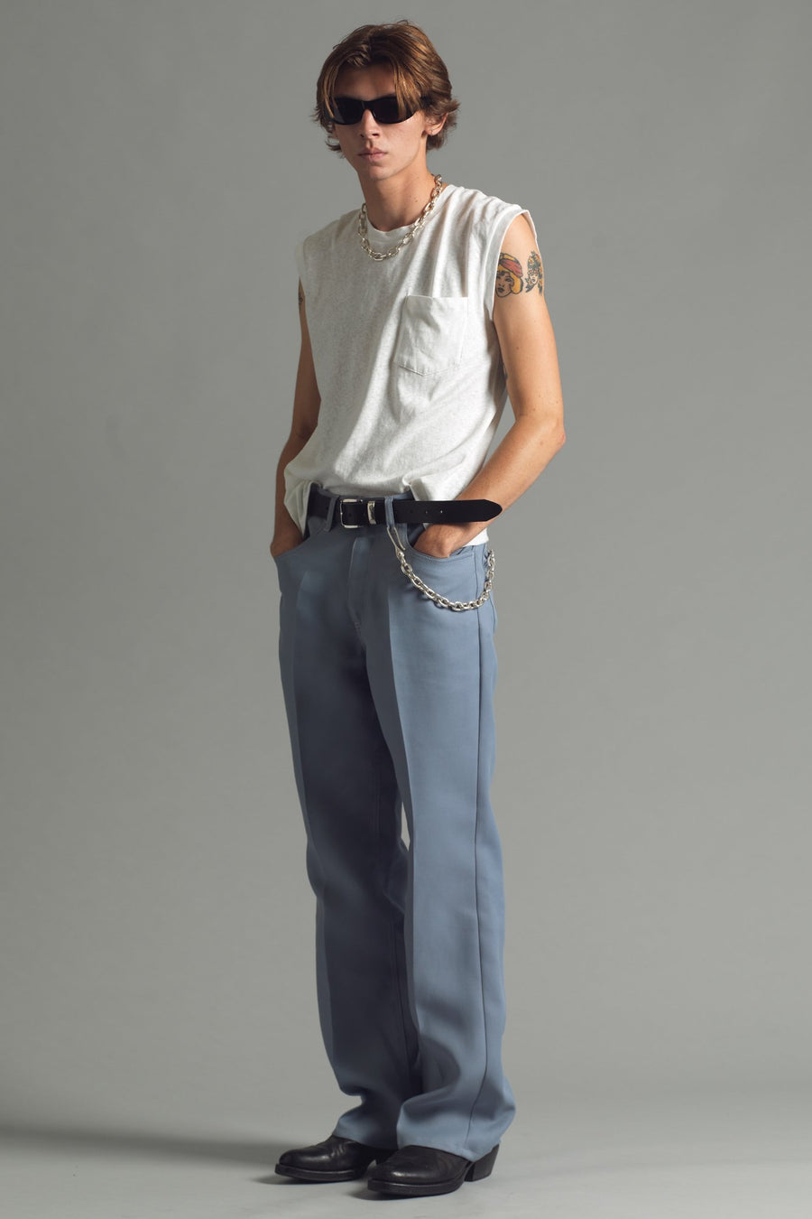 Valluco Flare Trouser | Angel Blue - SECOND/LAYER Inc.