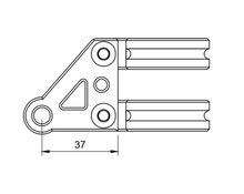 Load image into Gallery viewer, CNC Headlight Brackets 32 - 52mm - Cafe Racer, Scrambler, Tracker, Bobber