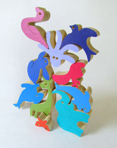 Stacking Wooden Puzzles - Set of 2 - Handmade in Israel