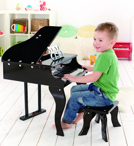 Hape Early Melodies Happy Grand Piano, Black