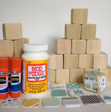 DIY Baby Block Set - Boy