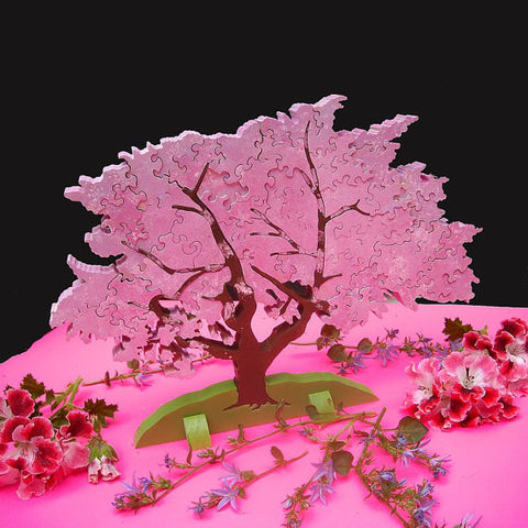 Cherry Tree 3D Wooden Puzzle - Handmade