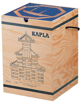 KAPLA Wooden Construction Blocks – 280 Block Set & Book