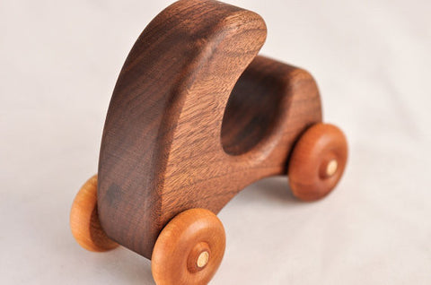 Crawling Car Handcrafted Push Toy