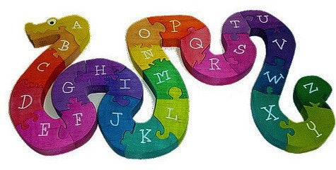 Alphabet Snake Wooden Puzzle