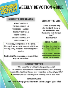 Weekly Devotion Guide Pack