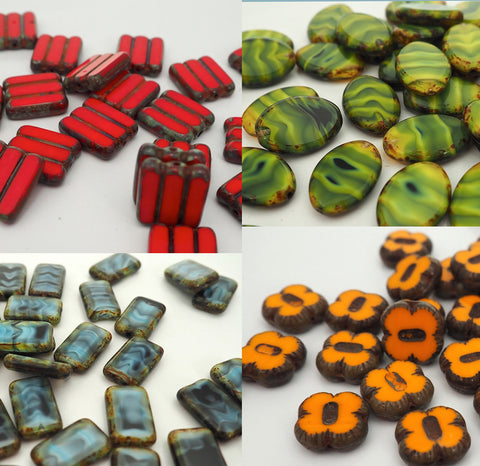 Czech Fire Polished Beads (Shapes)
