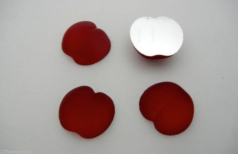 4 VINTAGE West German hand made fruit cabochons 20mm Cherry Siam Red frosted #5 ii