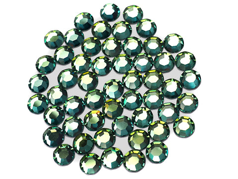 Crystal Sahara, Preciosa 8-faceted Chaton Roses Article 438-11-110 (8-ft Rhinestone Flatbacks), Genuine Czech Crystals