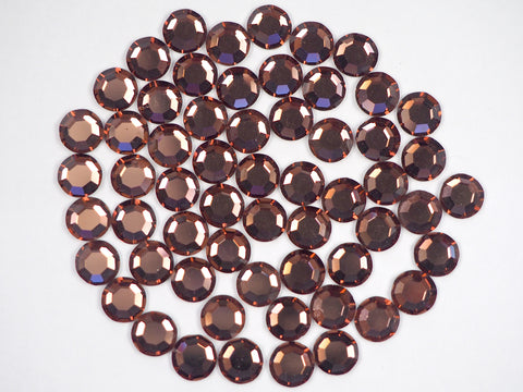 Light Burgundy, Preciosa 8-faceted Chaton Roses Article 438-11-110 (8-ft Rhinestone Flatbacks), Genuine Czech Crystals