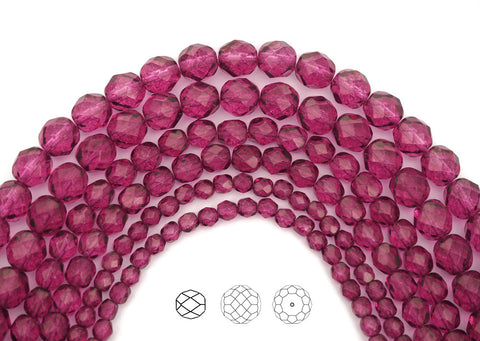crystal-pink-flare-coated-czech-fire-polished-round-faceted-glass-beads-16-inch-strand-PJB-FP4-CryPinkFlare102