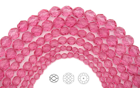 crystal-pink-rose-coated-czech-fire-polished-round-faceted-glass-beads-16-inch-strand-PJB-FP4-CryPinkRose102