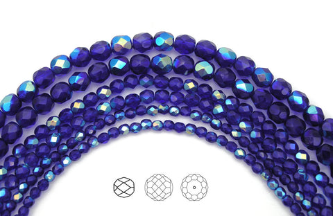cobalt-blue-ab-coated-czech-fire-polished-round-faceted-glass-beads-16-inch-strand-PJB-FP3-CobaltBlueAB135