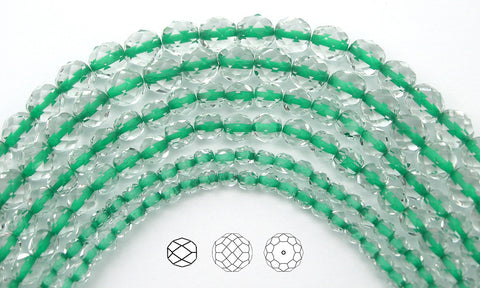 crystal-green-lined-czech-fire-polished-round-faceted-glass-beads-16-inch-strand-PJB-FP4-CryGreenLined102