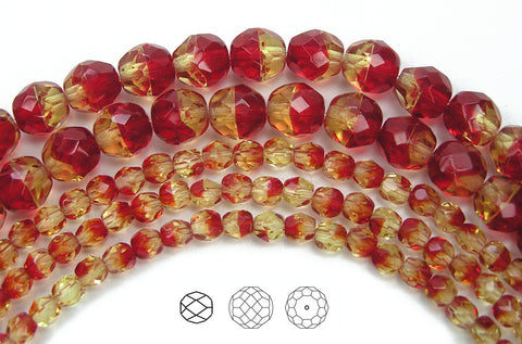 fireopal-2-tone-czech-fire-polished-round-faceted-glass-beads-16-inch-strand-PJB-FP4-FireOpal102