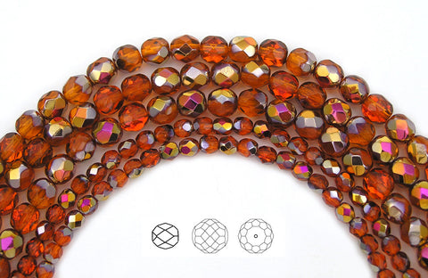 indian-red-santander-coated-czech-fire-polished-round-faceted-glass-beads-16-inch-strand-PJB-FP4-IndRedSantan102