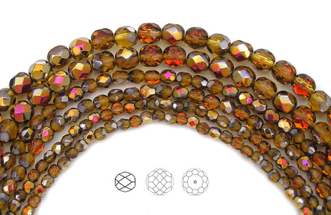 topaz-santander-coated-czech-fire-polished-round-faceted-glass-beads-16-inch-strand-PJB-FP3-TopazSanta135