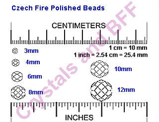 Crystal Rosehip Luster coated, loose Czech Fire Polished Round Faceted Glass Beads