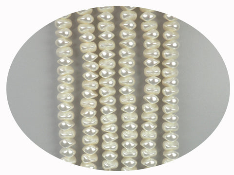 Czech Nugget Glass Pearls 7x9mm or 8x10mm Bridal Cream Imitation Pearl