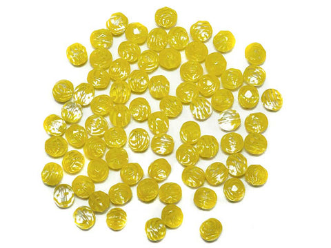 Crystal Yellow Stripe, 2-tone combination, Czech Fire Polished Round Faceted Glass Beads, 8mm 36pcs