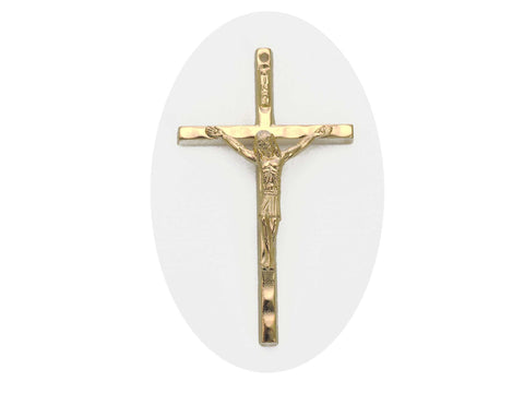 Rosary Crucifix ~ Gold Plated Cross for Rosaries, made in Italy or Czech, P546