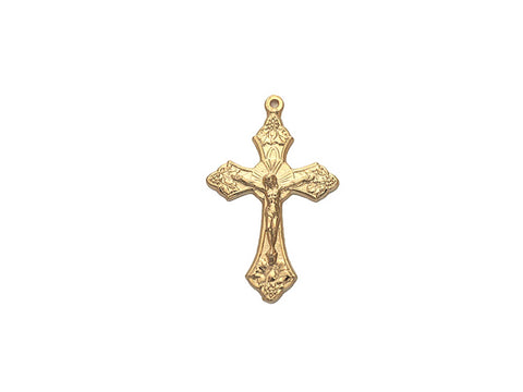 Rosary Crucifix ~ Gold Plated Cross for Rosaries, made in Italy or Czech, P563