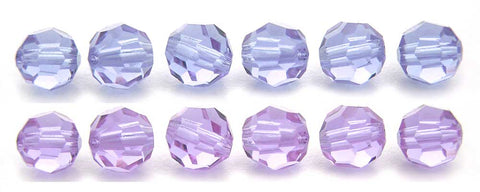 Alexandrite (changing color), Czech Machine Cut Round Crystal Beads