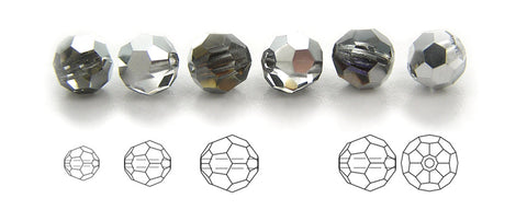 Crystal Heliotrope coated, Czech Machine Cut Round Crystal Beads