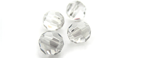 Crystal Hematite Half coated, Czech Machine Cut Round Crystal Beads