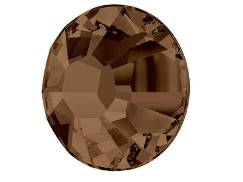 Swarovski Art.# 2028 - 144 Swarovski Xilion Rose Flatbacks 40ss Smoked Topaz brown, ss40, 8.5mm