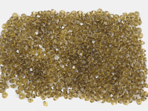 Gold Beryl, Czech MC Spacer Beads (Squished Bicones), size 3x5mm, 36 pieces