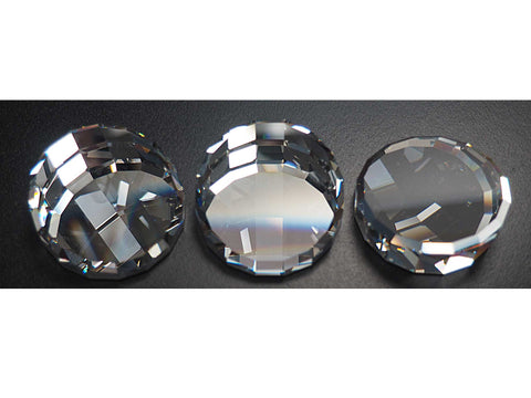 Swarovski Art.# 2085 - 40mm Crystal clear, 1 Swarovski Elements Round Large Stage Mirror Flat Back Rhinestone - DISCONTINUED
